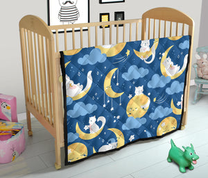 Cats and Moon Premium Quilt