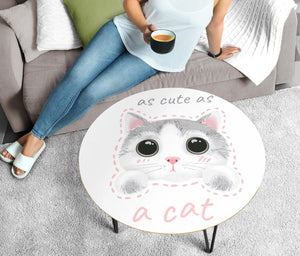 Cute Cat Circular Coffee Table