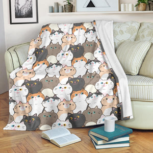 Cute Cats Premium Blanket