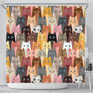 Cute Cat Shower Curtain Limited Edition
