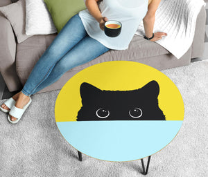 Sneak Black Cat Circular Coffee Table ( USA only )