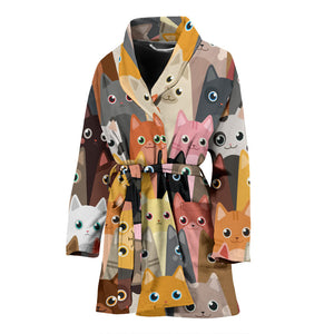 Cute Cat Women's Bath Robe