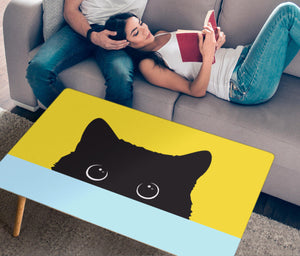 Sneak Black Cat Rectangular Coffee Table