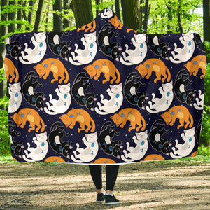 Circle Cats Hooded Blanket