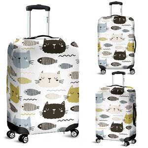 Cats and Fishes Luggage Covers
