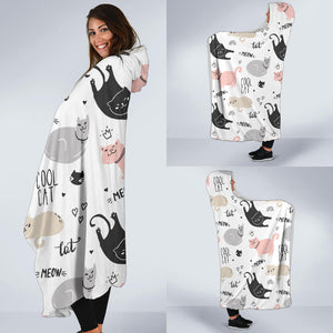 Cool Cats Hooded Blanket
