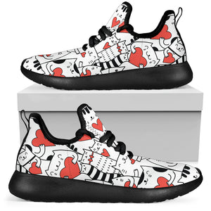 Lovely Cats Mesh Knit Sneakers