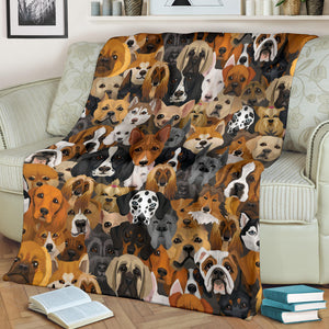 Cute Dogs Premium Blanket