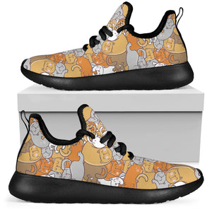 Sleep Cats Mesh Knit Sneakers