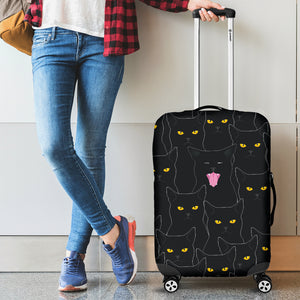 Black Cats Luggage Covers