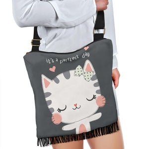Purrfect Day Cat Crossbody Boho Handbag