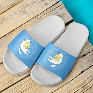 Cat and Star Slide Sandals