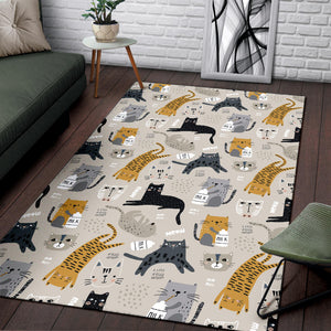 Milk Cat Area Rug