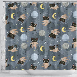 Space Cats Shower Curtain