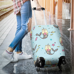 Mermaid Cat Luggage Covers