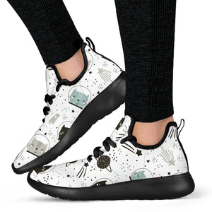 Space Cats Mesh Knit Sneakers