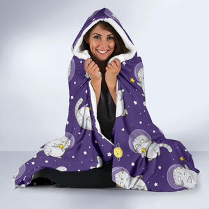 Space Cats Hooded Blanket