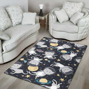 Space Cats Area Rug