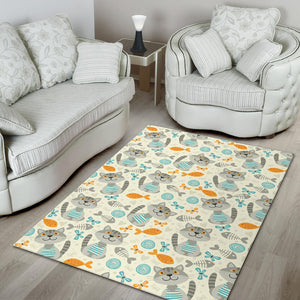 Cats and Fishes Area Rug