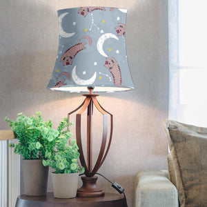 Cats and Moon Drum Lamp Shade
