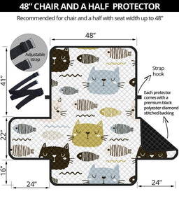 Cats and Fishes Sofa Protector