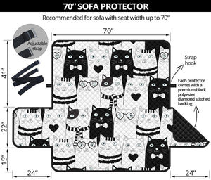 Cute Cats Sofa Protector