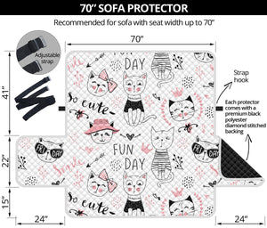 Fun Day Cats Sofa Protector