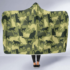 Cat Camouflage Hooded Blanket