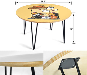 Cute Cats Circular Coffee Table