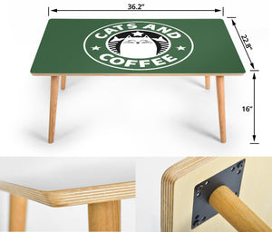 Cat and Coffee Rectangular Coffee Table