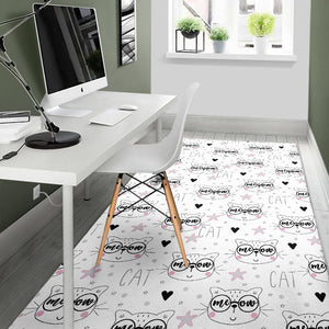 Meow Cat Area Rug