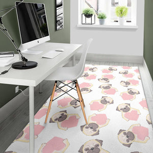 Lovely Pugs Area Rug