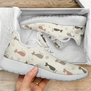 Cute Cats Mesh Knit Sneakers