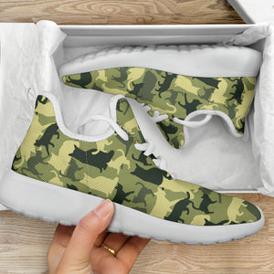 Cat Camouflage Mesh Knit Sneakers