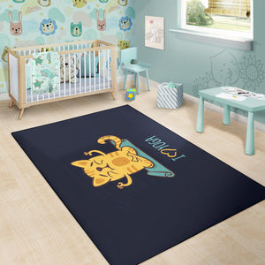 Yoga Cat Area Rug