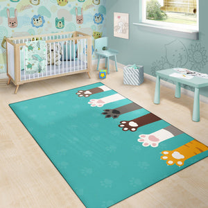 Cat Paws Area Rug