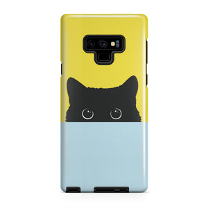 Black Cat Face Tough Case