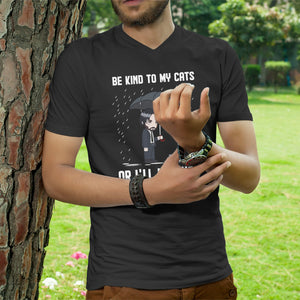 Be Kind To My Cats Unisex V-Neck T-shirt