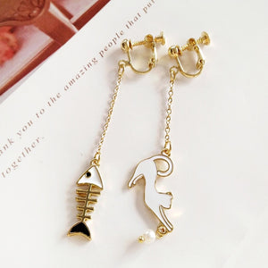 Cute Cats and Fishes Earrings