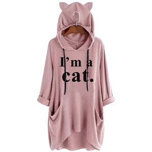 I'm a Cat Oversize Hoodie With Cat Ears