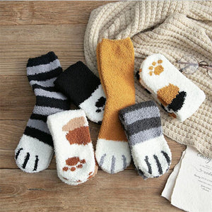 Cute Winter Cat Claws Socks