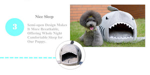 Cute Shark Cat Dog Pet Bed - Pets Lovers Store