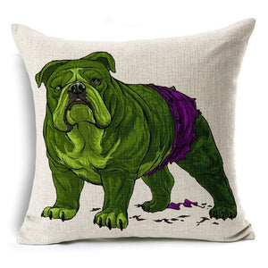 Funny Dog Cushion Pillow Case Cover
