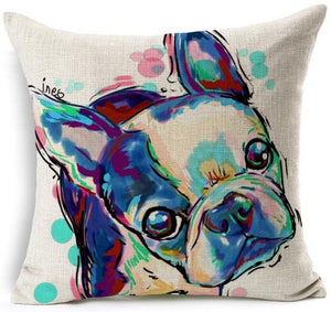 Cute Dogs Cushion Pillow Cover - Pets Lovers Store