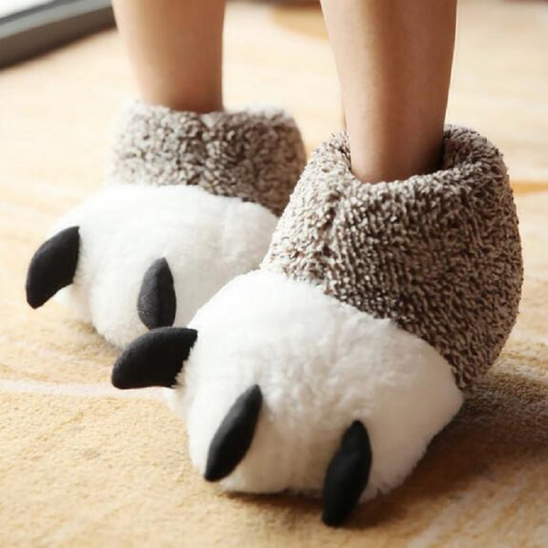 Cartoon Bear Claw Slippers