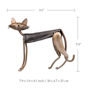 Stretching Cat Iron Sculpture - Pets Lovers Store