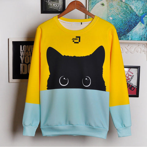 Black Cat Two Tone Sweatshirt