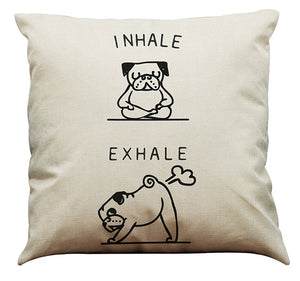 Cute Dog Pug Cushion Pillow Cover - Pets Lovers Store