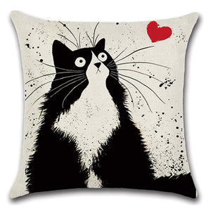 Lovely Cat Pillow Cushion Case - Pets Lovers Store
