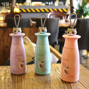 Cute Cat Creative Thermos Cup